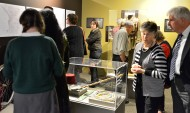 Guests view some of the artifacts on display